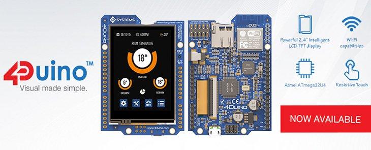 4Duino – okamžite použiteľný Arduino modul s displejom