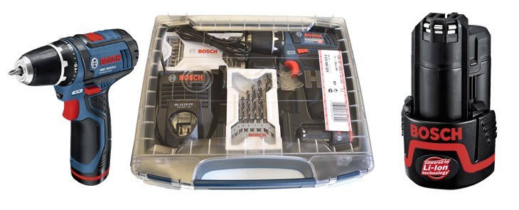 Skrutkovač Bosch  GSR 10,8-2 Li teraz aj v praktickom plastovom kufríku a s 3-ročnou zárukou