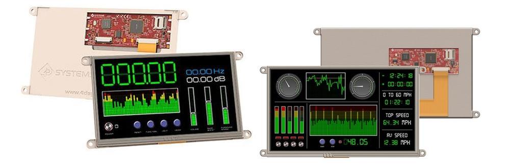 "9"" intelligent embedded display uLCD-90"