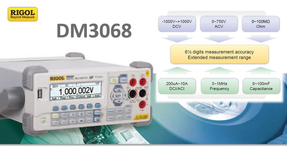 Multimeter Rigol DM 3068 – 6½ miestny pomocník nielen v školských laboratóriách